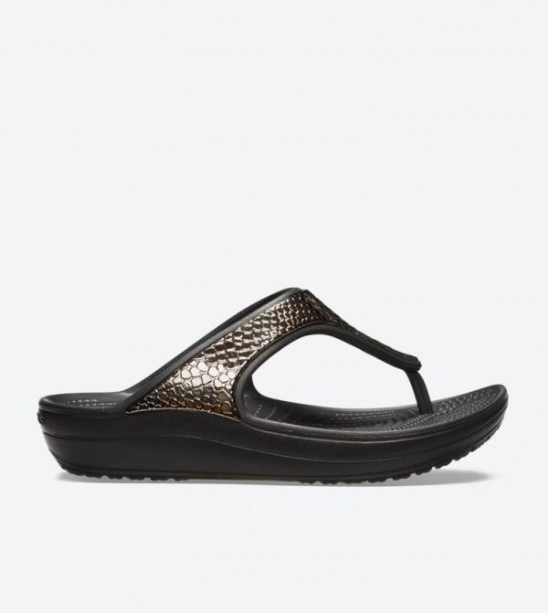 Women's Crocs Sloane Metallic Texture Flip